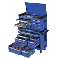 "Kincrome P1404 - 517 Piece 1/4, 3/8 & 1/2"" Square Drive Contour Tool Workshop Workshop Tool Boxes & Trolleys"