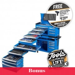 """Kincrome P1810 - 551 Piece 17 Drawer Extra-Wide 1/4, 3/8 & 1/2"""" Drive Contour Tool Workshop Tool Kit"""