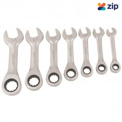 Supatool S030007 - 7 Piece Combination Stubby Gear Spanner Set Spanner
