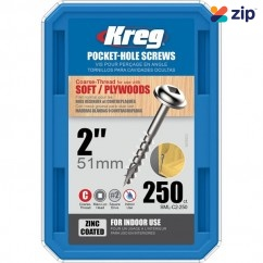"Kreg SML-C2-250 - 2"" #8 Coarse Washer Head Pocket Screws Pocket Screws"