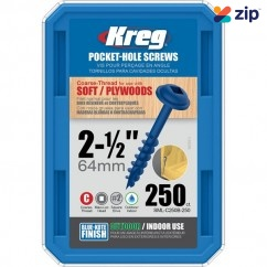 "Kreg SML-C250B-250 - PK50 2-1/2"" (63mm) #8 Coarse Blue-Kote Pocket-Hole Screws  Kreg Accessories"