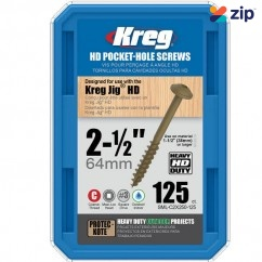 "Kreg SML-C2X250-125 - Pk125 2-1/2"" #14 Coarse HD Pocket Screws Pocket Screws"