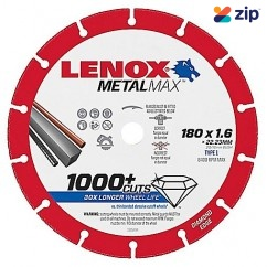 Lenox 1985494 - 180mm MetalMax Metal Cut Off Diamond Wheel Blade Saw Blades