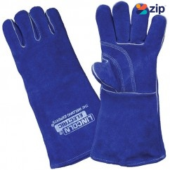 Lincoln LA120-2 - 390mm Premium Blue Leather Welding Gloves Gloves