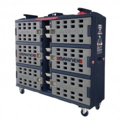 Makinex MCP-6-SS-AU - 1480mm x 430mm x 1370mm Mobile Charge Pod