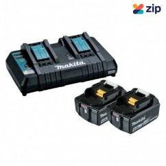 Makita DC18RD+2X4AH - 18V Dual Port Rapid Charger and 2x 4.0Ah BL1840B-L Battery Kit 198498-4 Batteries