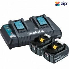 Makita DC18RD+2X5AH - 18V Dual Port Rapid Charger and 2x 5.0Ah BL1850B-L Battery Kit 198928-5 Batteries