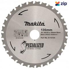 Makita B-15724 - 136 x 20mm 30T TCT Metal Circular Saw Blade Makita Accessories
