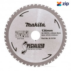 Makita B-15730 - 136 X 20mm 50T TCT Circular Saw Blade Specialized for Metal Cutting  Makita Accessories