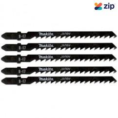 Makita T244D - 71mm 6TPI B-17 HCS Jigsaw Blades 5pk A-85690 Bosch Accessories