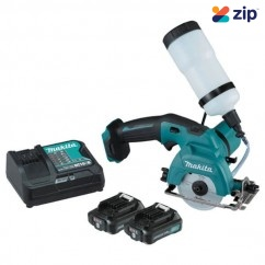 Makita CC301DSAE - 12V 2.0Ah MAX 85mm Diamond Cutter Kit Cordless Circular Saws - Wet