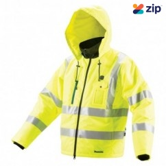 Makita CJ106DZ2XL - 12V Max Cordless High Visibility Yellow Heated Jacket Skin - 2X Large Jackets
