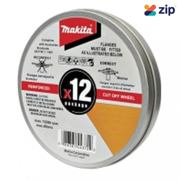 Makita COW125X1.2-12 - 125mm INOX Cut Wheels Stainless Steel  12Pk D-20535-12 Makita Accessories