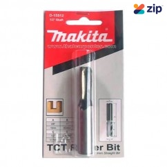 """Makita D-15512 - 1/2"""" Shaft TCT Two Flute Straight Cutter Router Bit Router Bits"""