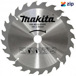 """Makita D-51493 – 185mm (7-1/4"""") 24 Tooth 20mm Bore Economy TCT Saw Blade"""