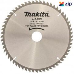 Makita D-63650 - 216mm x 30 x 60T Multi Purpose TCT Saw Blade Makita Accessories