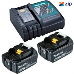 Makita DC18RC+2X5AH - 18V Rapid Charger and 2x 5.0ah Battery Kit 199179-3 Batteries & Chargers