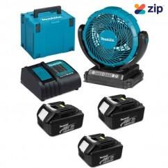 """Makita DCF102SFJ - 18V 180mm (7-1/8"""") 3.0Ah Cordless Jobsite Fan Kit Floor Fans & Ventilators"""