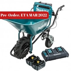 Makita DCU180PT2B - 36V (2 x 18V) 5.0Ah Cordless Brushless Wheelbarrow, Bucket Kit Wheelbarrows & Trolleys
