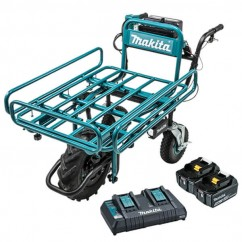 Makita DCU180PT2F - 36V (18V x 2) 5.0Ah Cordless Brushless Wheelbarrow with Pipe Frame 199116-7 Kit Wheelbarrows & Trolleys