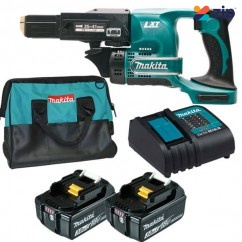 Makita DFR450RMEX - 18V LXT 3.0Ah Cordless Auto-Feed Screwdriver Kit Screwdrivers