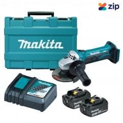 Makita DGA452RFE - 18V 115MM Cordless Angle Grinder Kit Cordless Grinders - Angle