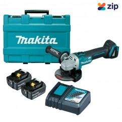 Makita DGA504RTE - 18V 125mm Brushless Angle Grinder Kit