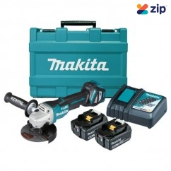 Makita DGA517RTE - 18V 125mm Cordless Brushless Paddle Switch Angle Grinder Kit Cordless Grinders - Angle