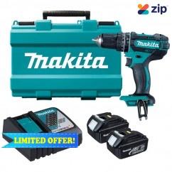 Makita DHP482RFE - 13MM 65Nm Cordless Hammer/Impact Drill Kit Cordless Drills - Impact