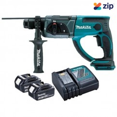 Makita DHR202RFE - 18V 3.0Ah 20mm Cordless SDS Plus Rotary Hammer Kit Cordless Rotary Hammers
