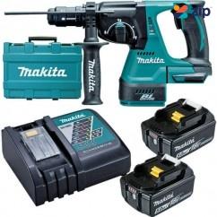 Makita DHR243RTE - 18V Cordless 24mm 5.0Ah Brushless Rotary Hammer Drill Kit Cordless Rotary Hammers