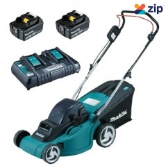 Makita DLM380PT2 - 36V (18V x 2) 5.0Ah 380MM Cordless Lawn Mower Kit Free Shipping