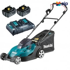 Makita DLM431PT2 - 36V (18V x 2) 5.0Ah 50L 430MM Cordless Lawn Mower Kit Free Shipping