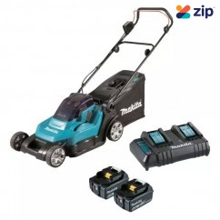Makita DLM432CT2 - 36V (18V x 2) 5.0Ah 50L 430MM Cordless Lawn Mower Kit