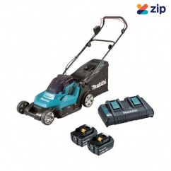 Makita DLM432PT2 - 36V (18V x 2) 5.0Ah 50L 430MM Cordless Lawn Mower Kit Lawn Mowers