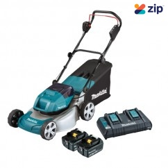 "Makita DLM460PG2 - 18Vx2 Brushless Lawn Mower 460mm (18"") Kit"