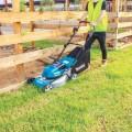 "Makita DLM464PG2 - 36V (18Vx2) 6.0Ah 460mm 18"" Cordless Brushless Lawn Mower Kit Lawn Mowers"