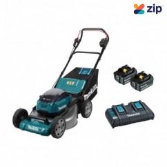 """Makita DLM531PG2 - 36V (18V x 2) 6.0Ah 534mm (21"""") 70L Brushless Lawn Mower Kit Mowers"""
