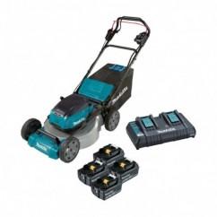 "Makita DLM532PT4X - 18Vx2 5.0Ah 534mm (21"") Cordless Brushless Self-Propelled Lawn Mower Kit Lawn Mowers"