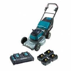 "Makita DLM533PT4X - 18Vx2 5.0Ah 534mm (21"") Cordless Brushless Self-Propelled Lawn Mower Kit Makita Redemption"