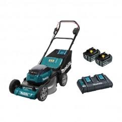 Makita DLM535PG2 - 36V 6.0Ah 534mm 70L Lawn Mower Kit Mowers