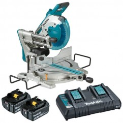"Makita DLS111PT2 - 18Vx2 260mm (10-1/4"") Cordless Brushless AWS* Slide Compound Saw Kit Cordless Mitre Saws"