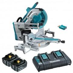 "Makita DLS211PT2U - 36V (18Vx2) Cordless Brushless AWS 305mm (12"") Slide Compound Mitre Saw Kit Mitre Saws"