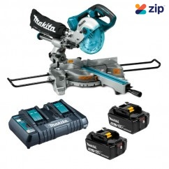 Makita DLS714PT2 -  36V (18V x 2) 5.0Ah Cordless Brushless Compound Mitre Saw Kit Cordless Mitre Saws