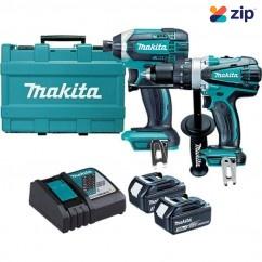 Makita DLX2145 - 18V Cordless 2pc Hammer Drill Driver / Impact Driver Kit