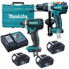 Makita DLX2145X1 - 18V 3.0Ah 2 Piece Cordless Combo Kit Combo Kits 18v