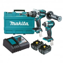 Makita DLX2176G - 18V 6.0Ah Cordless Brushless 2 Piece Combo Kit Combo Kits 18v