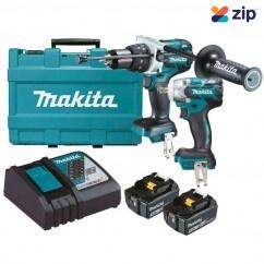 Makita DLX2185T - 18V Cordless Brushless 2 Piece Combo Kit Combo Kits 18v