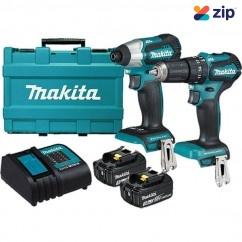 Makita DLX2221S - 18V Cordless Brushless Sub Compact 2 Piece Combo Kit Combo Kits 18v