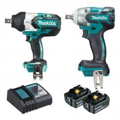 Makita DLX2273GX1 - 18V 6.0Ah Cordless Brushless 2pce Impact Wrench Combo Kit Combo Kits 18v